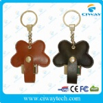 Butterfly shape leather USB flash drive