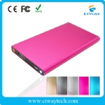 private mold metal casing polymer power bank with flashlight
